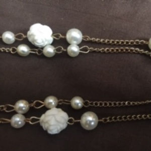 pearl and cream beaded necklace
